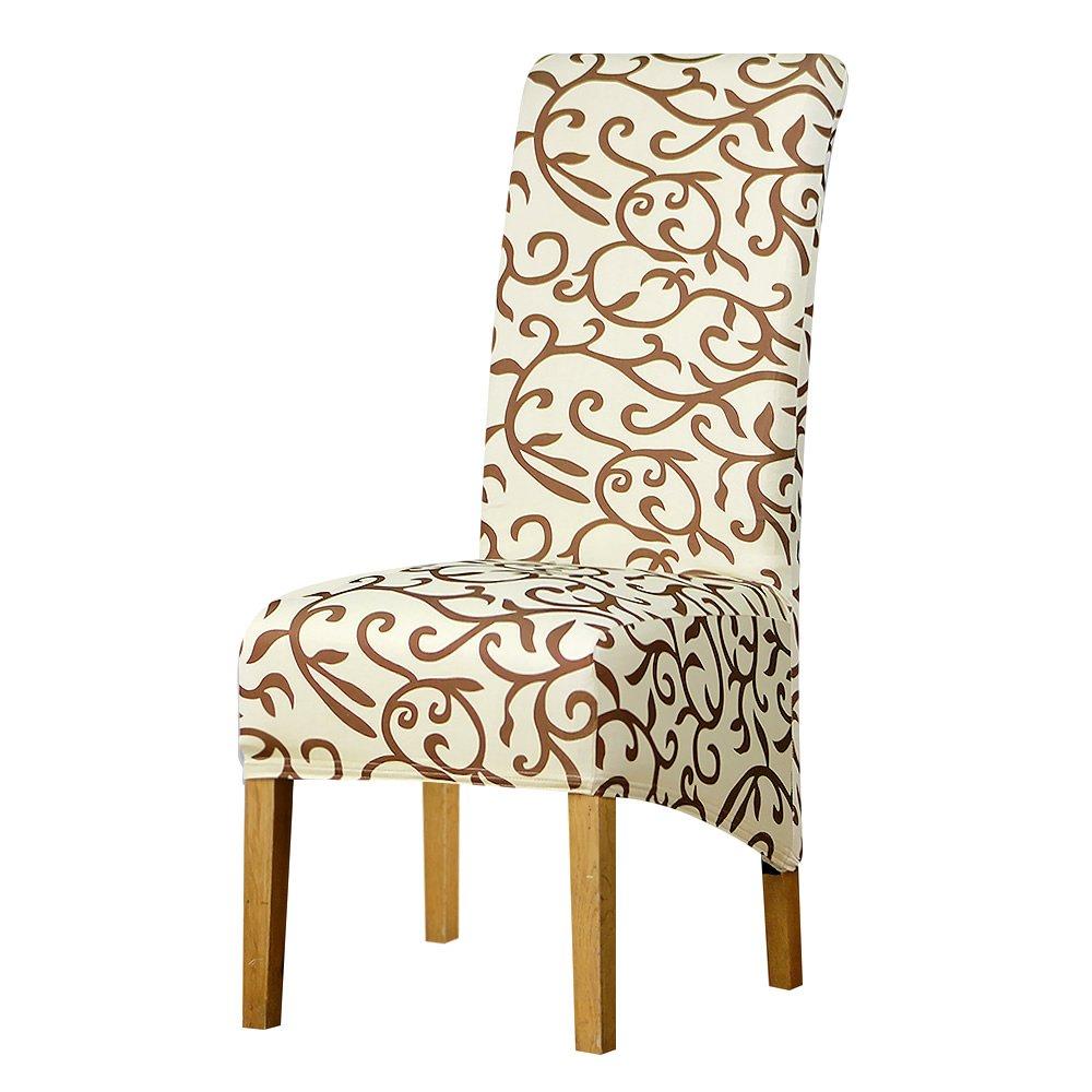 Posreng ロングバックサイズ 椅子カバー ハイバック ラージサイズ 椅子カバー シートカバー ホテルパーティー 宴会 椅子カバー ヨーロッパスタイル 043 8pcs-XL Size 5043021212538 8pcs-XL Size K043 B07MYR4178