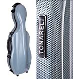 Tonareli Fiberglass Viola Case w/ Wheels - Special Edition Blue Graphite VAF1014