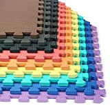 We Sell Mats 1/2-inch Multi-Purpose, Black, 100 Sq Ft (25 Tiles)
