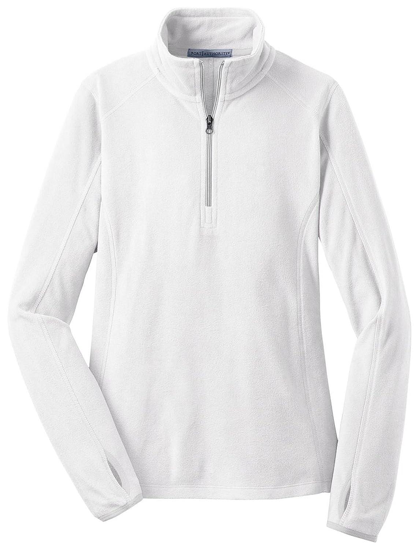 Port Authority Ladies Microfleece 1/2Zip Pullover-XL (White)