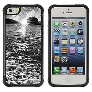 Suave TPU Caso Carcasa de Caucho Funda para Apple Iphone 5 / 5S / Waterfall Topaz Green / STRONG