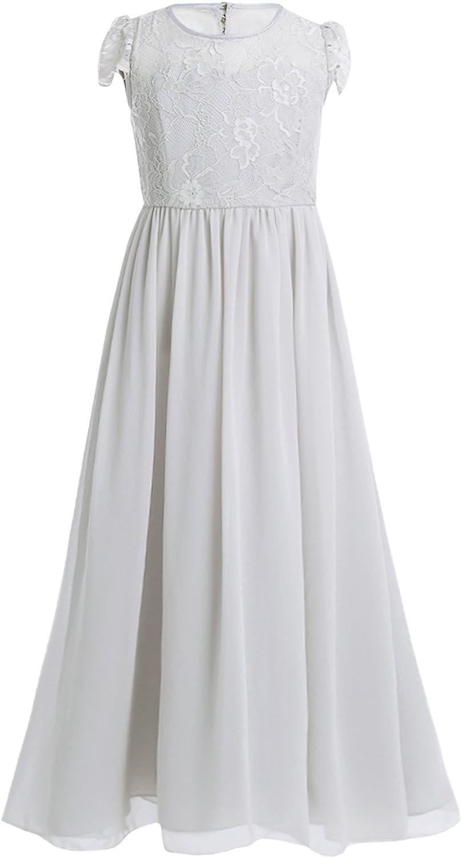YiZYiF Festliches Mädchen Kleider Lange Brautjungfern Kleider Hochzeit  Party Prinzessin Kleid Festzug Gr. 17 17 17 17 17 17