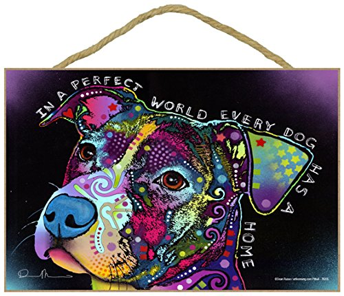 Perfect World Wall Plaque - SJT ENTERPRISES, INC. Pitbull - in a Perfect World Every Dog has a Home 7