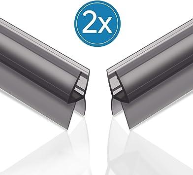 Qhui 2 x 100 cm premium negro tira de sellado curvada Derecho para ...