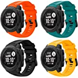 Junboer Sport Watch Band Compatible with Instinct Bands, Soft Silicone Adjustable Strap Replacement Fitness Wristband…