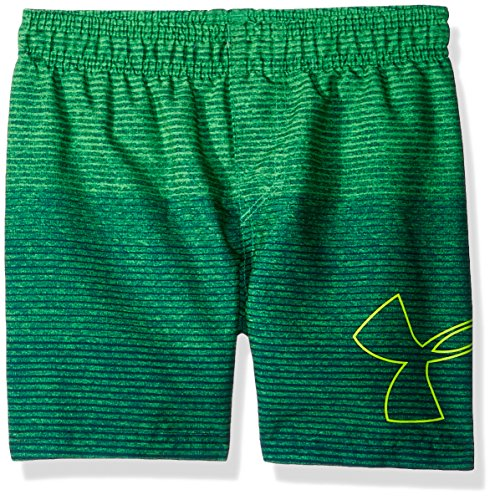 Under Armour Toddler Boys' Volley Fashion Swim Short, Green/Blue, 4T by Under Armour (Image #1)