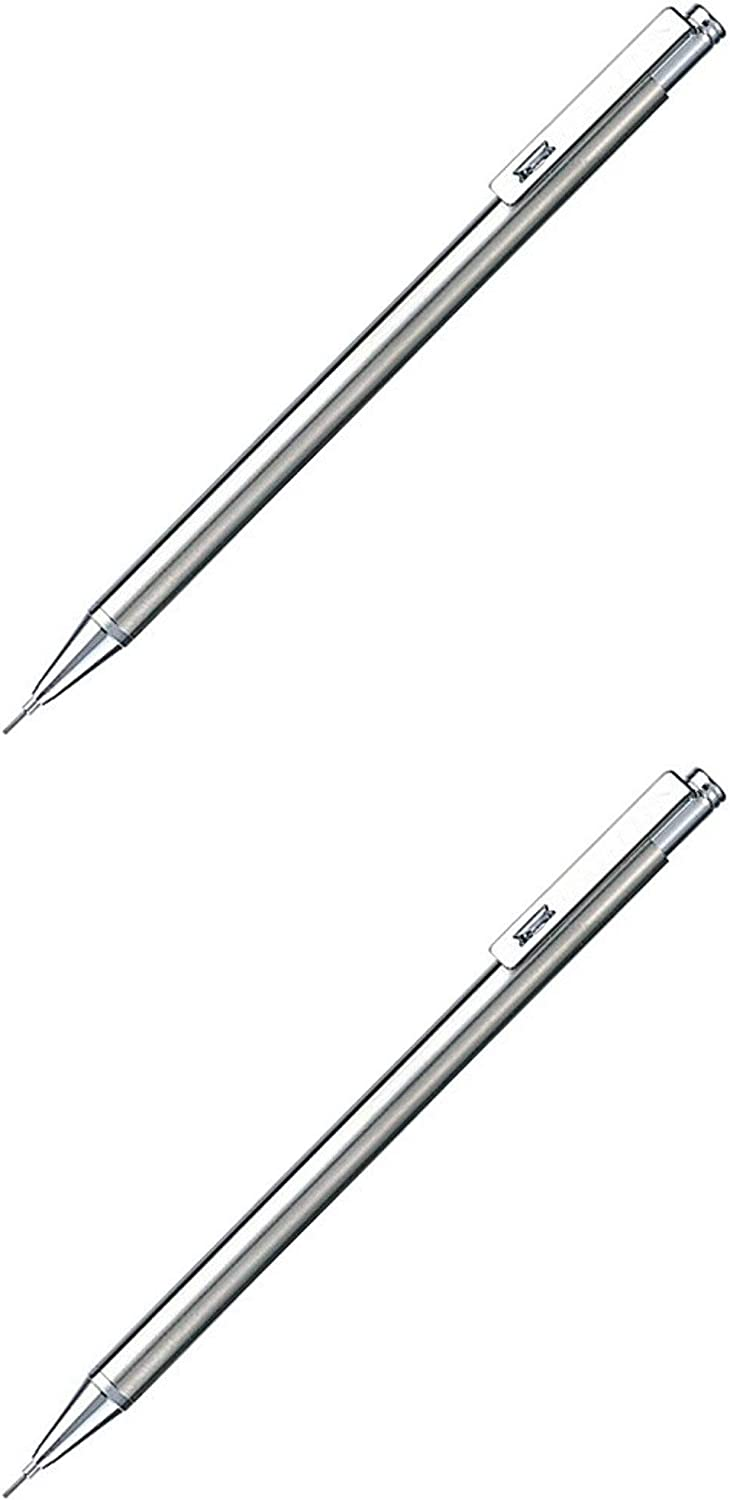 TS-3 Silver Body - 2 Pack 0.5 mm Zebra Mini Mechanical Pencil