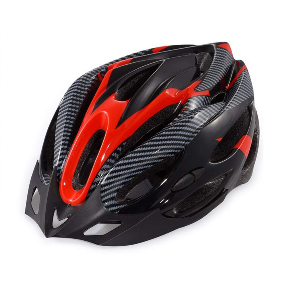 Leoie Unisex Red Black Cycling Riding Helmet Universal Nonintegrated Molding Helmet