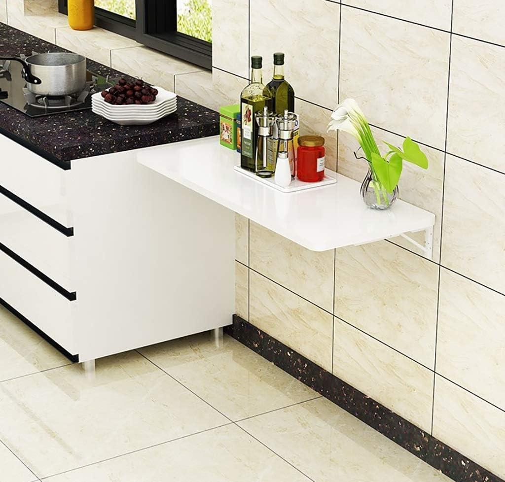 白い折りたたみダイニングテーブル環境に優しいシート研究用壁掛けドロップリーフ学習デスク(サイズ:90x40cm)