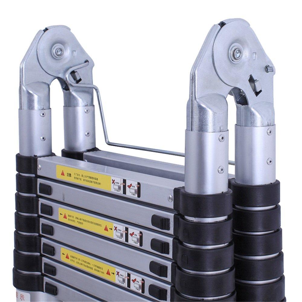 5m klappbar MCTECH/® Aluminium Teleskopleiter 5m klappbar Multifunktionsleiter Aluleiter Klappleiter 150 kg Belastbarkeit
