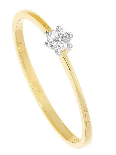 f8aae70e02ff MyGold Mujer Anillo de compromiso oro blanco 585 oro oro amarillo ...