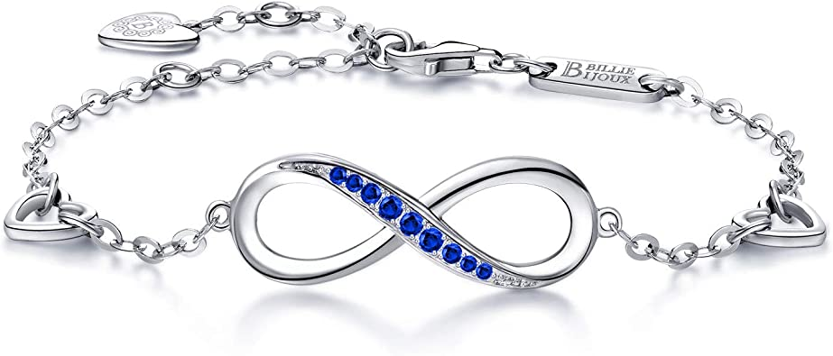 Mujeres Niña Serpiente Cadena pulsera con dijes De Plata Azul Amor Corazón Broche Pulsera sólo