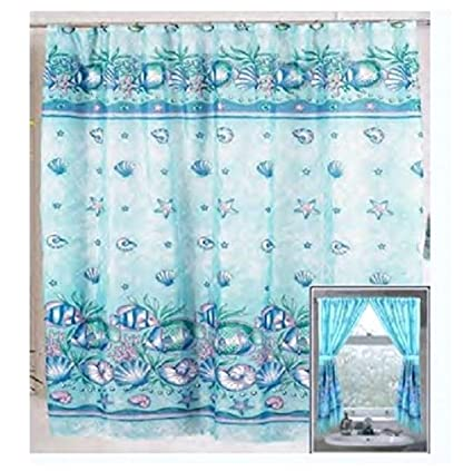Amazon Home Fashions Under The Sea Shower And Window Curtain