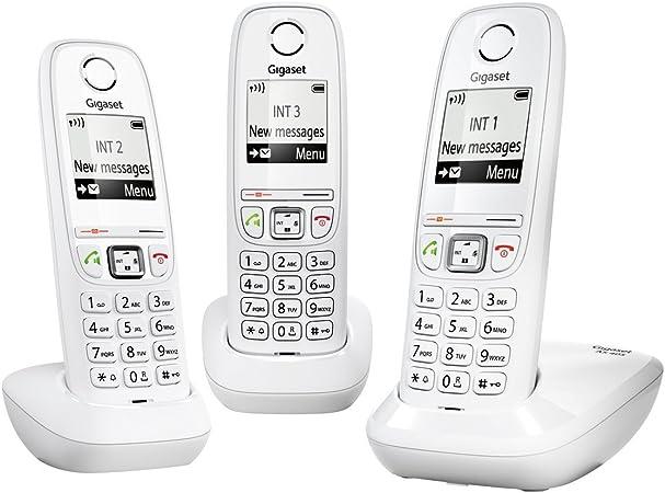 Gigaset Siemens AS405 Duo - Juego de teléfonos fijos inalámbricos (2 terminales, con pantalla), color negro [Versión Importada]: Amazon.es: Electrónica
