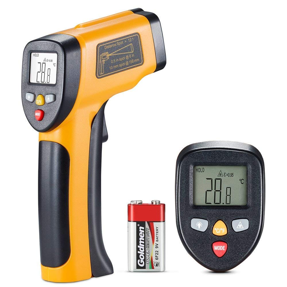 Digital Laser Infrared Thermometer -58℉~ 1202℉ (-50℃ ~ 650℃) Non-Contact Temperature Gun Laser Thermometer Gun for Cooking/Brewing/Oven/Pool/Air/Refrigerator/Freezer