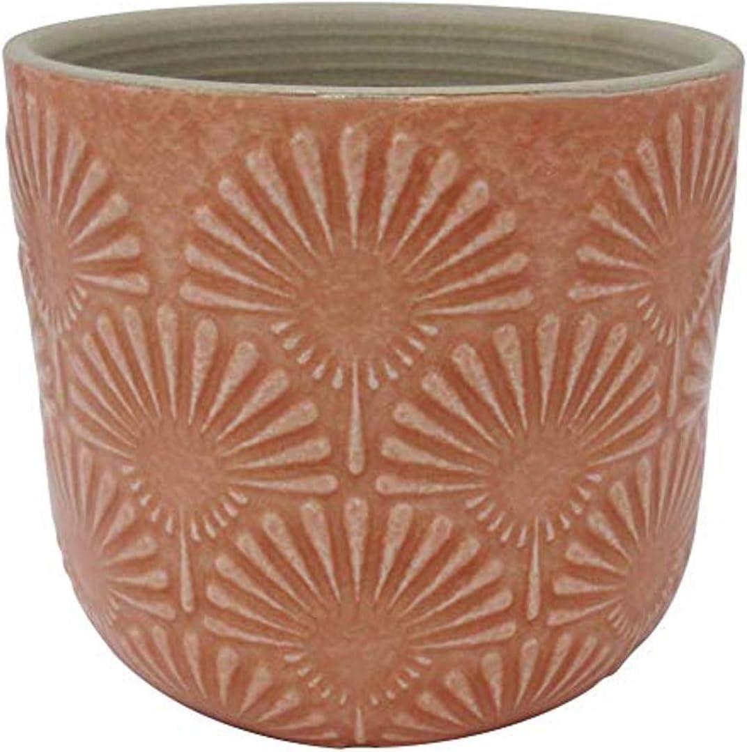 Brand Arabesque Stone /& Beam Large Fan-Embossed Planter 7.5 H
