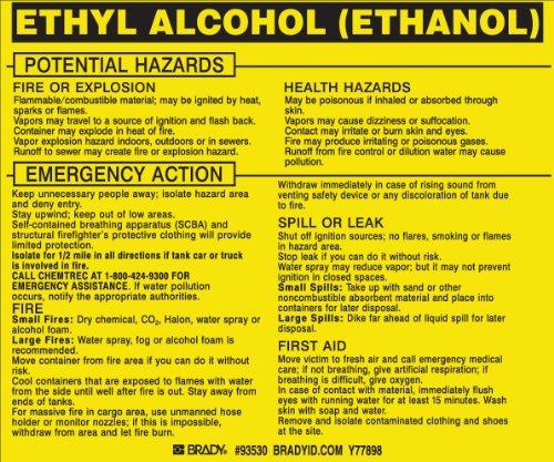 Brady 93530,  Hazardous Material Label:Dot 5800.4-1987, 3 3/4