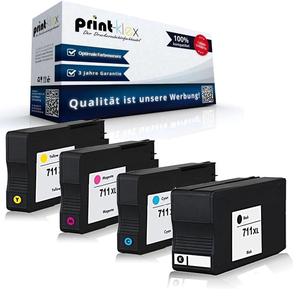 4 x Compatibles Cartuchos de Tinta para HP Designjet T120 T520 ...