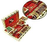 Rajwadi traditional handmade wooden Meenakari & velvet jewellery box / jewellery organizer / jewellery holder / Jewelary Vanity box with mirror for Wedding / party and Gift (11x8x3 inch)