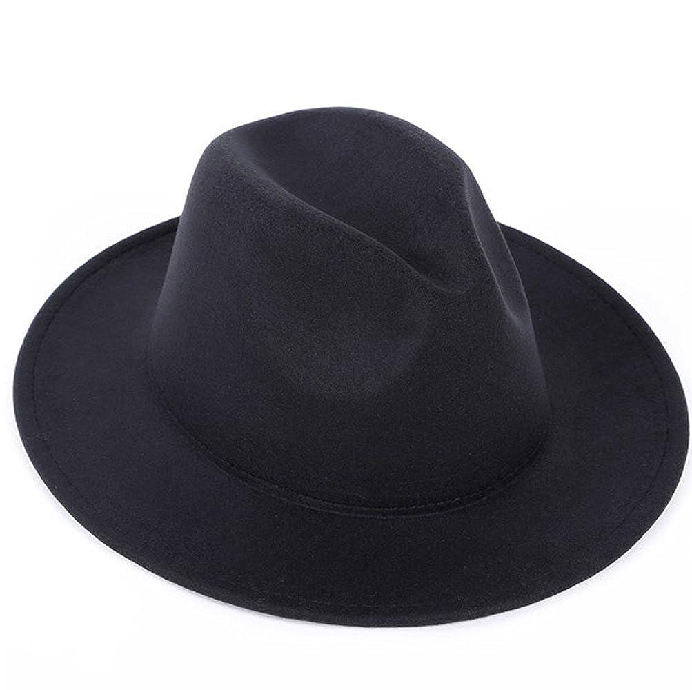 28c9ab6ae72 Amazon.com  Women or Men Woolen Felt Fedora Vintage Short Brim Crushable  Jazz Hat  Pet Supplies