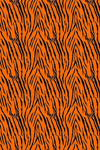 Tigers Poly Stripe - Tiger Stripes Orange pattern Grunge Heat Transfer Vinyl Sheet for Silhouette 12
