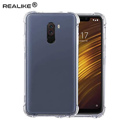 check out a7053 c29b6 REALIKE Anti Scratch, Perfect Fit Back Cover for Xiaomi Poco F1 2018  (Transparent)