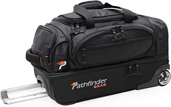 Pathfinder Gear 32 Inch Rolling Drop Bottom Duffel Black One Size