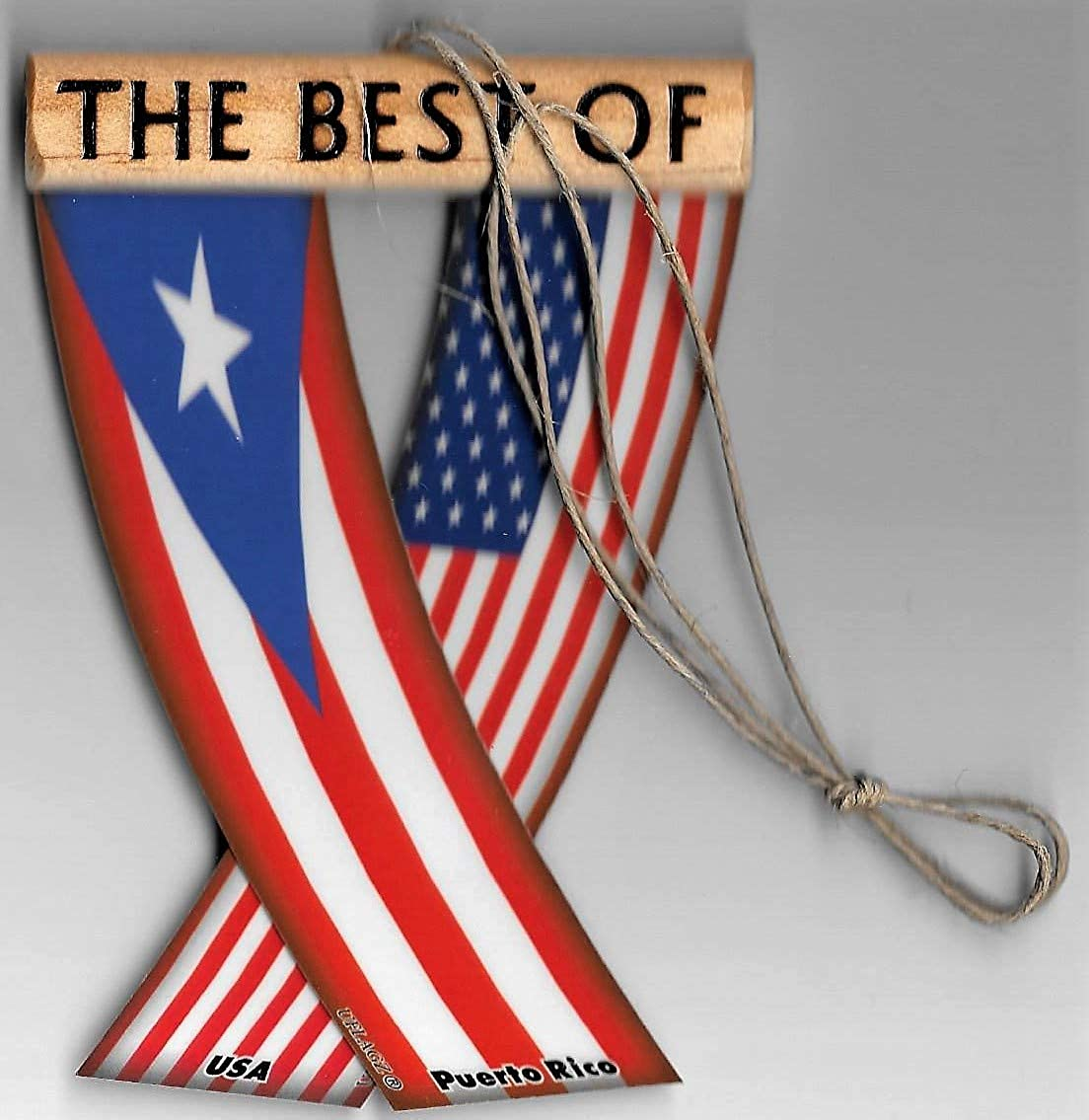 Puerto RICO and USA Puerto Rican American Puerto RICO and United States Boricua Americano Caribbean Flag Rear View Mirror Hanging CAR Flags Mini Banners for Inside The CAR Unity FLAGZ