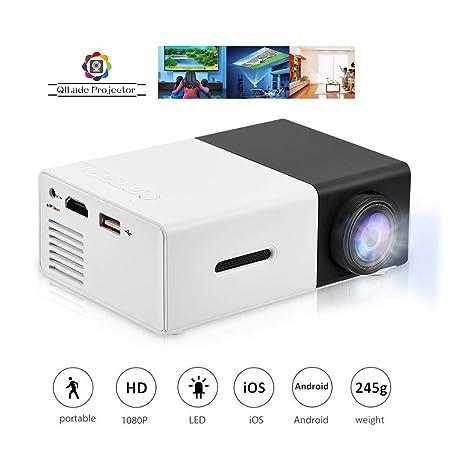 Mini proyector portátil 1080P LED Proyector de Cine en casa ...