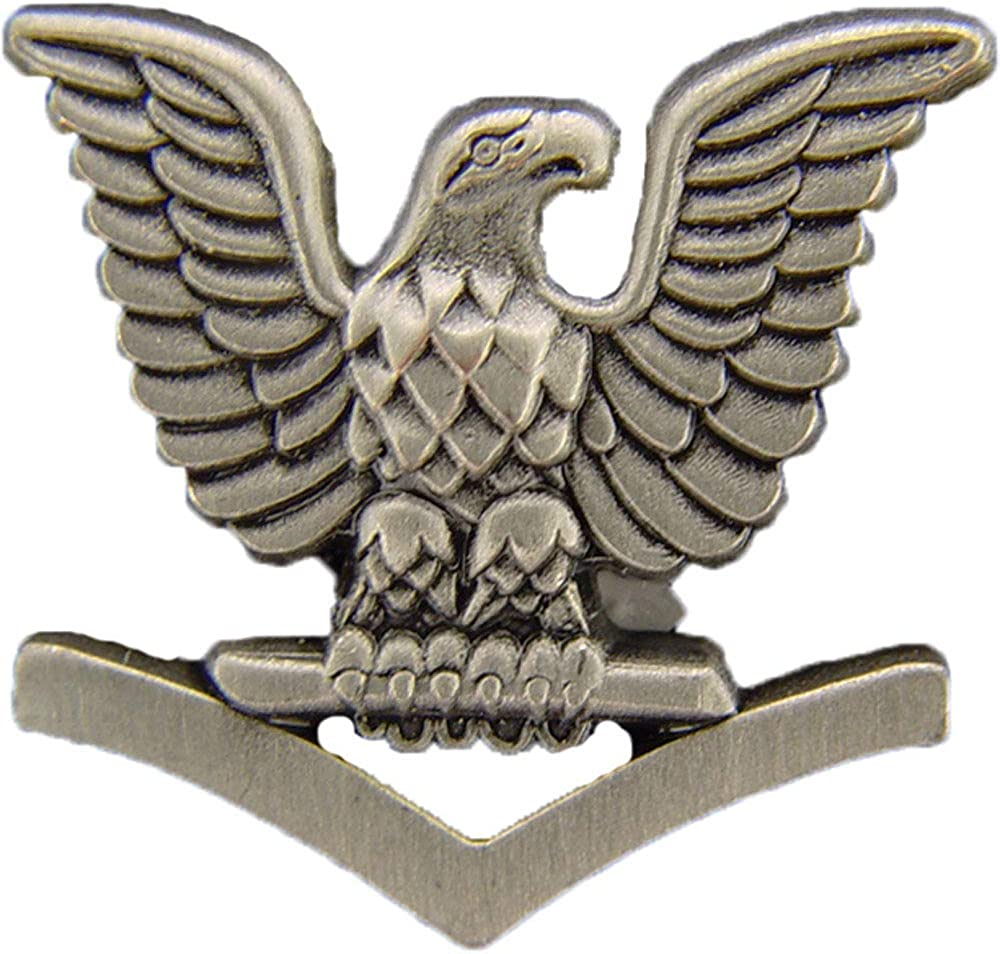 "United States Navy USN 3rd Class Crow .875"" Lapel Pin"