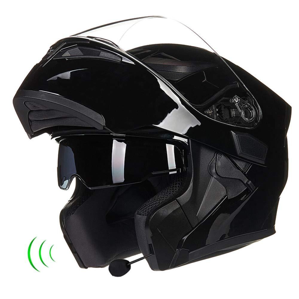 JPFCAK, Casco De Moto, con Bluetooth, Lente Doble, Casco Antivaho, Bocina, Casco De Cara Abierta,, Configuración, M-2XL,N-XXL=63-64cm: Amazon.es: Hogar