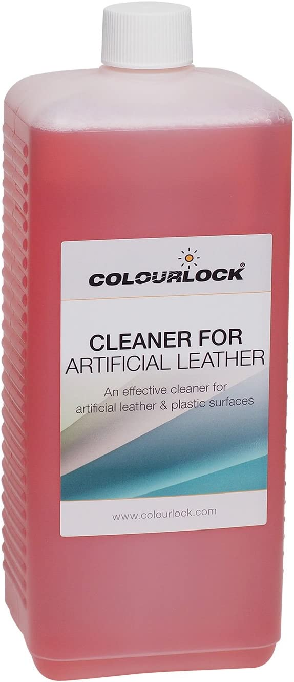 COLOURLOCK Cleaner for Artificial Leather to Clean Faux, Fake, Synthetic Leather, Leatherette, Pleather, Vinyl couches Sofas Furniture, car Seats, Clothing (1 Litre)