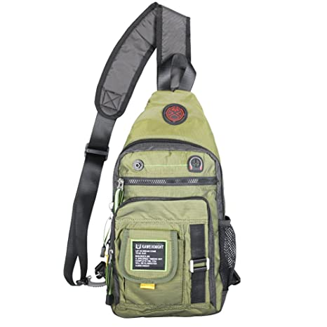 e6f891e72e0e Buy Kawei Knight Sling Bag Backpack Chest Shoulder Unbalance Gym Bag Pack  Green Online at Low Prices in India - Amazon.in