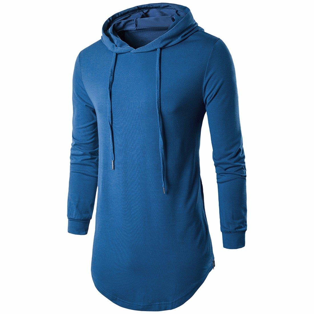 Paixpays Mens Pullover Hooded Sweatshirt Drawstring Hoodie Long Sleeve