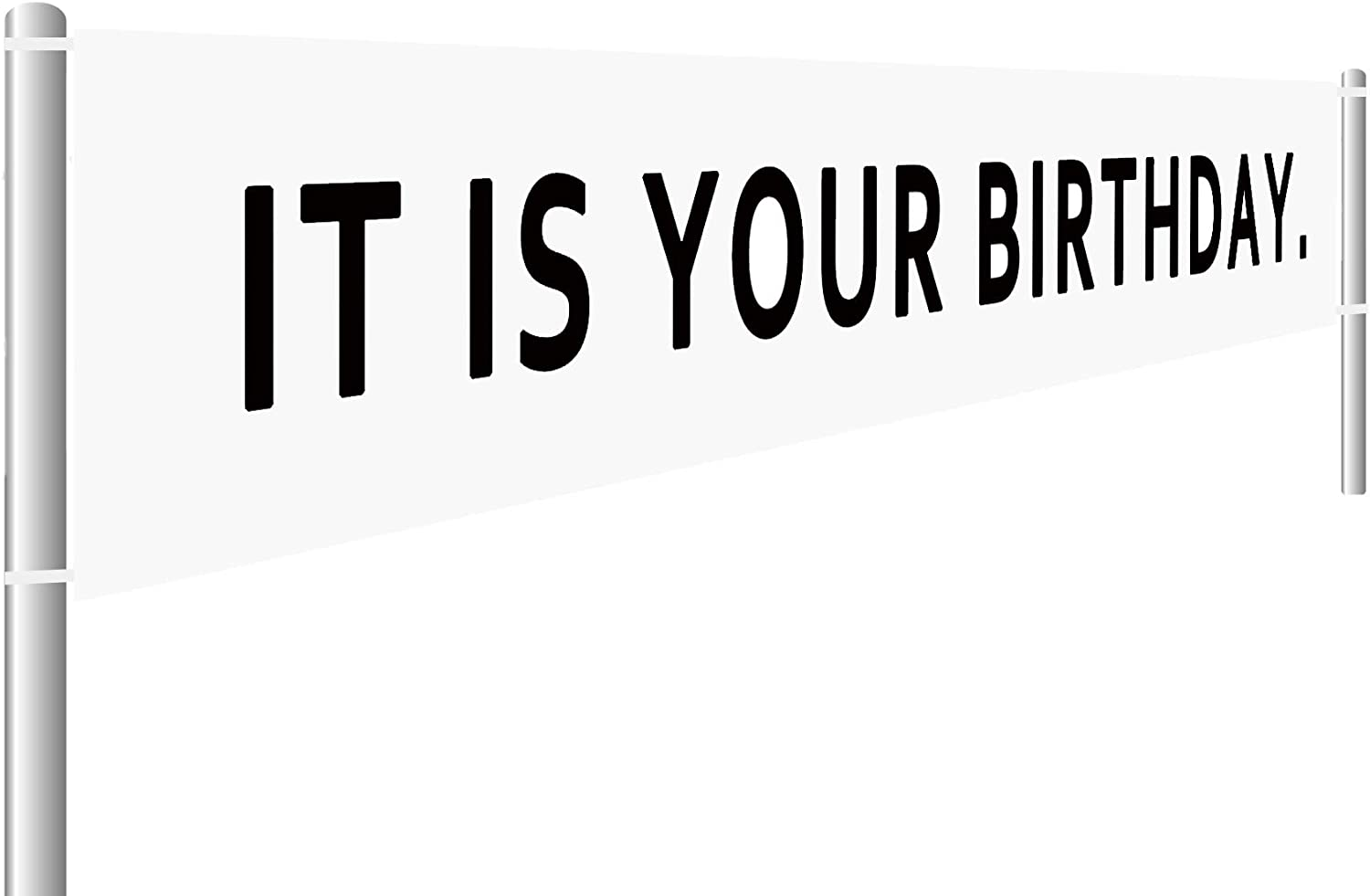It is Your Birthday Banner, The Office Birthday Party Decorations, Office Birthday Party Supplies, Dwight Schrute Birthday Decoration (9.8 x 1.6 feet)