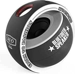 GEE·D B038 Portable Bluetooth Speaker Mini with Subwoofer 3D Stereo Sound Super Speaker, Built-in Mic, Small Bluetooth Speaker Wireless for iPhone Sony Samsung Android and More (Black)