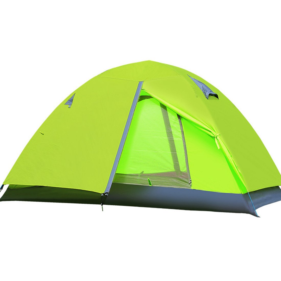 CHYIR Outdoor Camping Tent Rain Proof Double Layers Tent Aluminum Pole Tent Green