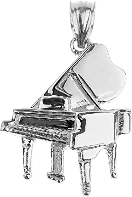 Grand Piano Charm Vintage Music Charms Silver Plated Piano Charm