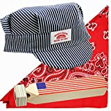 OHSAY USA Child Train Conductor Costume - Made in USA – Sold by Vets - Hat - Bandana - Whistle. Detailed Craftsmanship