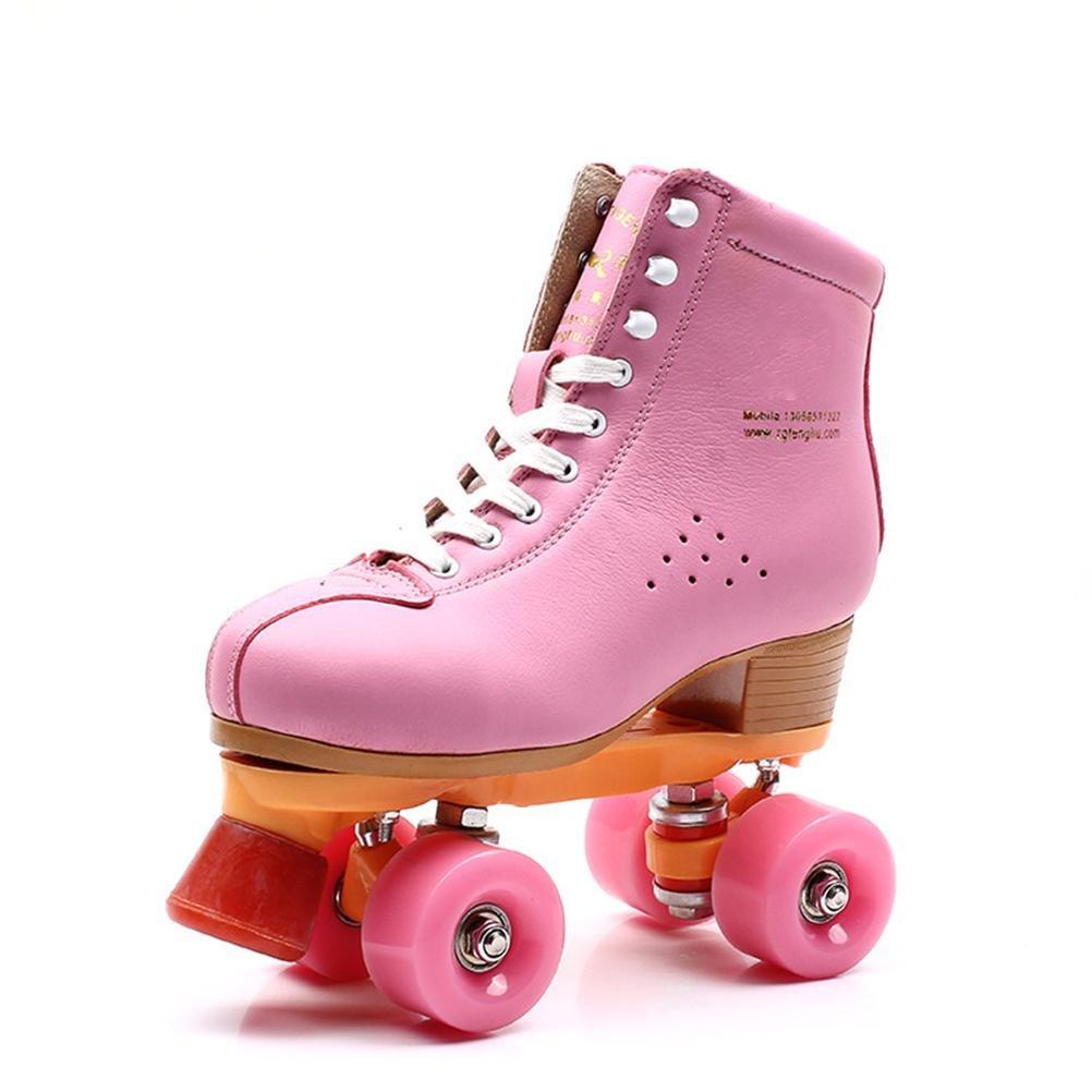 Beauty leader Roller Skates Quad Indoor/Outdoor High Top Leder Rollschuhe für Jugendliche und Erwachsene Erwachsene