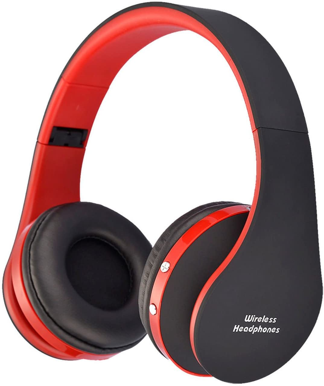 AIYIBEN Bluetooth Wireless Over-Ear Stereo Headphones Wireless Wired Headsets with Microphone for Music Streaming for iPhone 7 Plus 7 Samsung Galaxy, Smart Phones Bluetooth Devices Red