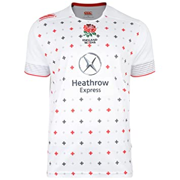 9ac4a987b50 Canterbury England Home Sevens Pro Short Sleeve Replica Rugby Jersey -  Bright White, Small