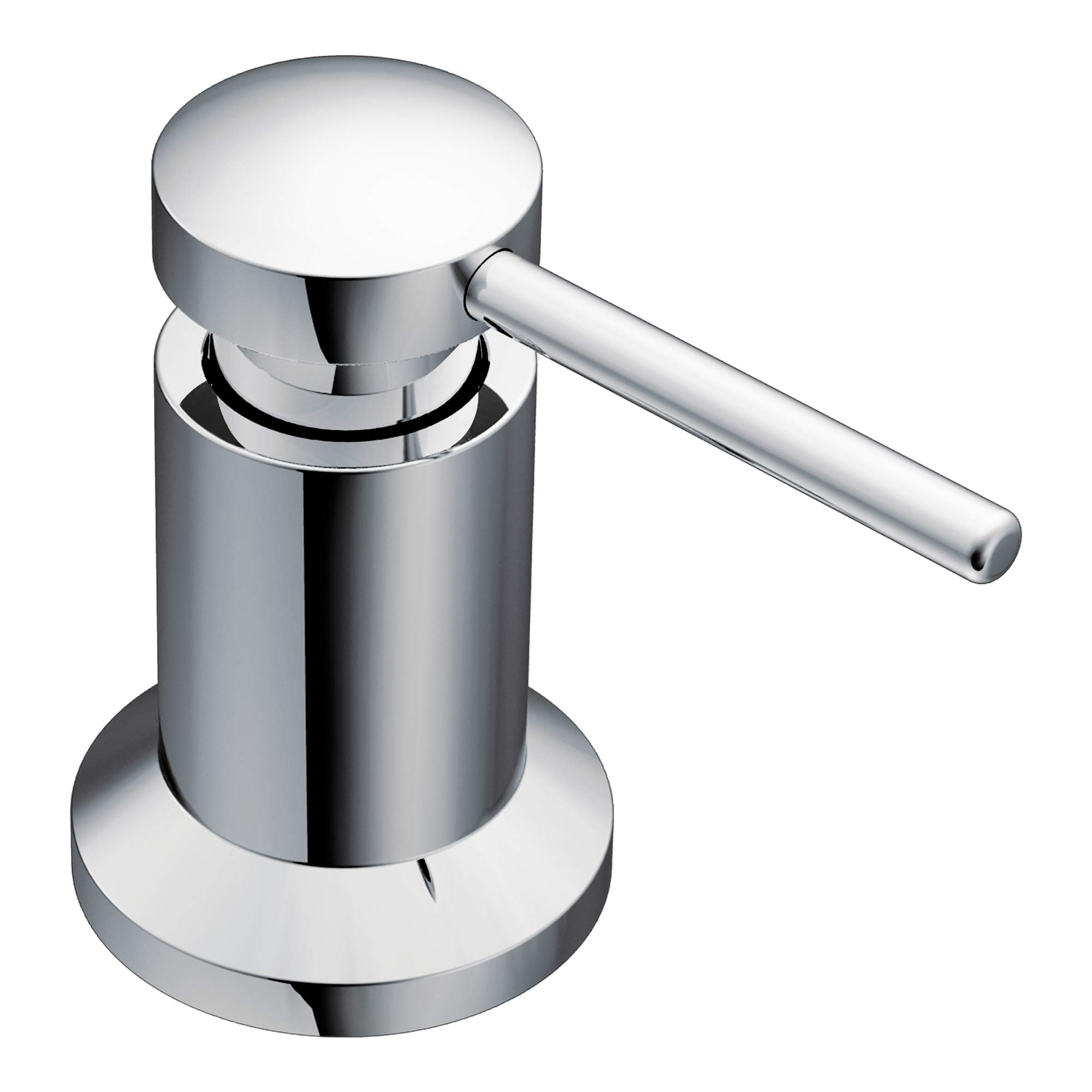Moen 3942 Deck Mounted Kitchen Soap Dispenser with Above the Sink Refillable Bottle, Chrome by Moen