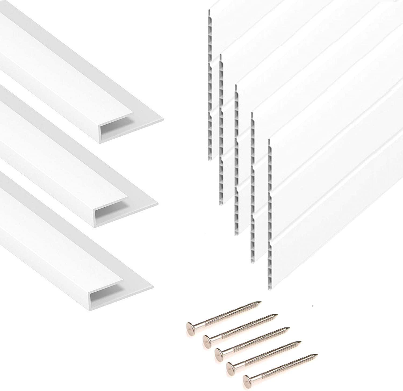 5M Length UPVC Plastic Cladding /& Trims Hollow Soffit Board