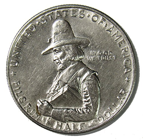 1920 D Pilgrim Tercentenary Silver Commemorative Half Dollar 50¢ Brilliant Uncirculated
