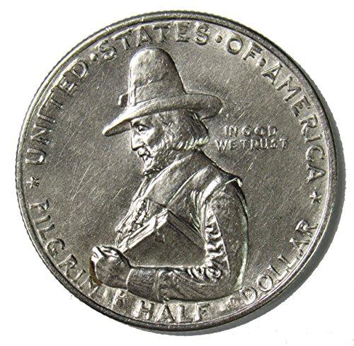 1920 D Pilgrim Tercentenary Silver Commemorative Half Dollar 50¢ Brilliant -