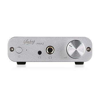 Sabaji Audio PHA2 - Amplificador portátil para Auriculares, Color Plateado