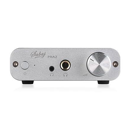 Sabaj PHA2 Portable Hi-fi Desktop Audio Kopfhörer Verstärker 6.35mm in Silber