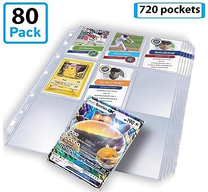 Amazon.com: Juego de 720 bolsillos para tarjetas de ...