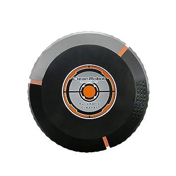 Clock Robot Aspirador Completo Electrodomésticos Inteligentes Smart Intelligent Sweep Negro/Blanco,Black